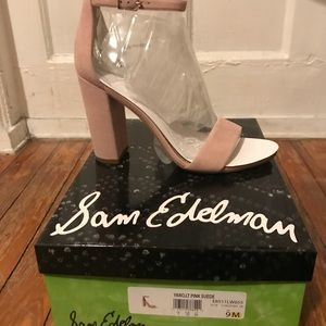 SAM EDELMAN, Yaro Sandal, light Pink Suede, size 9